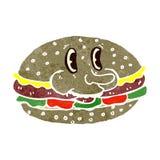 Retro cartoon burger Stock Photos