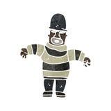 Retro cartoon burglar Stock Images