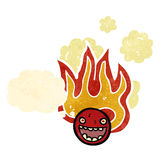retro cartoon burning face symbol Stock Photos