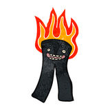 Retro cartoon burning pants Royalty Free Stock Photo