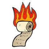 retro cartoon burning toilet paper Royalty Free Stock Photo