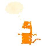 Retro cartoon burping cat Royalty Free Stock Photo