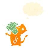 Retro cartoon burping cat Royalty Free Stock Images