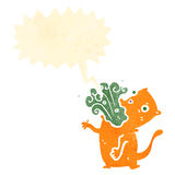 Retro cartoon burping cat Royalty Free Stock Photography