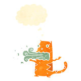 Retro cartoon burping cat Royalty Free Stock Images