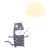 Retro cartoon burping cat Royalty Free Stock Photography