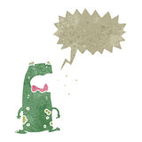 Retro cartoon burping frog Stock Images