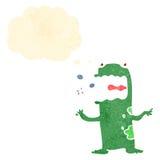 Retro cartoon burping frog Stock Image