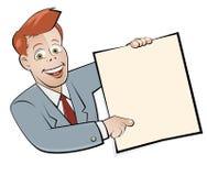 Retro cartoon businessman Royalty Free Stock Photography