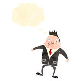 Retro cartoon businessman shrugging shoulders Stock Photography