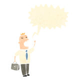 Retro cartoon businessman talking loudly Royalty Free Stock Photo