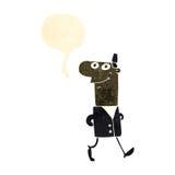 Retro cartoon businessman walking to work Stock Image