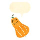 Retro cartoon butternut squash Stock Images