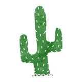 retro cartoon cactus royalty free illustration