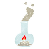 Retro cartoon candle in storm lantern Royalty Free Stock Image