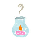Retro cartoon candle in storm lantern Stock Photo