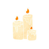 retro cartoon candles burning Stock Image