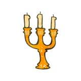 retro cartoon candlestick Royalty Free Stock Images