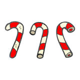 Retro cartoon candy canes Royalty Free Stock Photography
