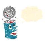 retro cartoon canned food Stock Image