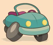 Retro cartoon car Royalty Free Stock Image