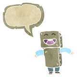 Retro cartoon cardboard robot costume Royalty Free Stock Photography