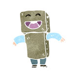 Retro cartoon cardboard robot costume Royalty Free Stock Image