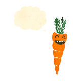 Retro cartoon carrot Stock Photos