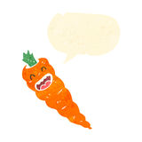 Retro cartoon carrot Stock Image