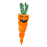 Retro cartoon carrot Stock Images