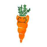 Retro cartoon carrot Stock Photography