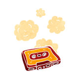 retro cartoon cassette tape Stock Images