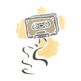 retro cartoon cassette tape Stock Image