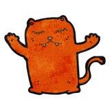 Retro cartoon cat. Retro cartoon with texture. Isolated on White vector illustration