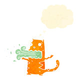 Retro cartoon cat with bad breath Royalty Free Stock Image