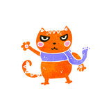 Retro cartoon cat fighting Stock Images