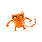 Retro cartoon cat fighting Royalty Free Stock Image