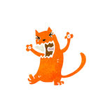 Retro cartoon cat fighting Stock Photo