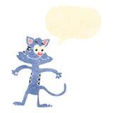 Retro cartoon cat with speech bubble Royalty Free Stock Photo