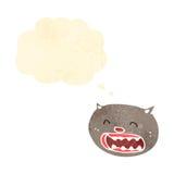 Retro cartoon cat with thought bubble Stock Photo