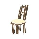 Retro cartoon chair Royalty Free Stock Image