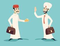 Retro Cartoon Characters Vintage Arab Businessman Stock Photo