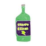 Retro cartoon cheap cider Royalty Free Stock Photo