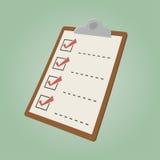 Retro cartoon checklist Stock Photos