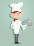 Retro cartoon chef. Illustration Royalty Free Stock Photos