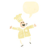 Retro cartoon,chef Royalty Free Stock Photography