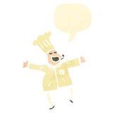 retro cartoon,chef Royalty Free Stock Photography