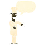 Retro cartoon chef with speech bubble Stock Photography