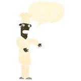 retro cartoon chef with speech bubble Stock Photography