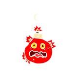 Retro cartoon cherry bomb Stock Images